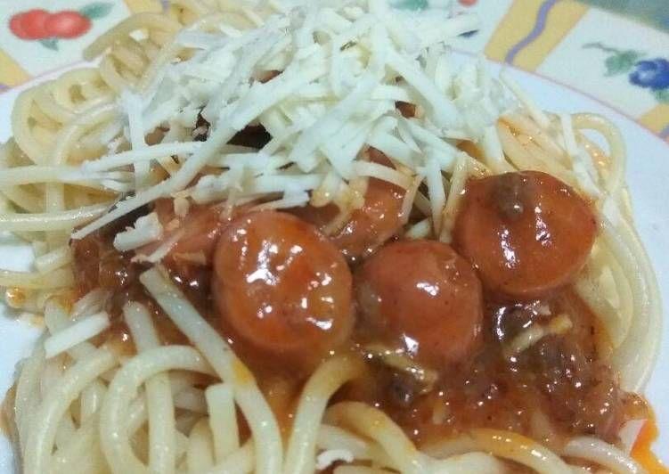 Resep Spaghetti Bolognese Sosis Pr Pasta Oleh Dewi Dapur Resep Spageti Sosis Resep Makanan