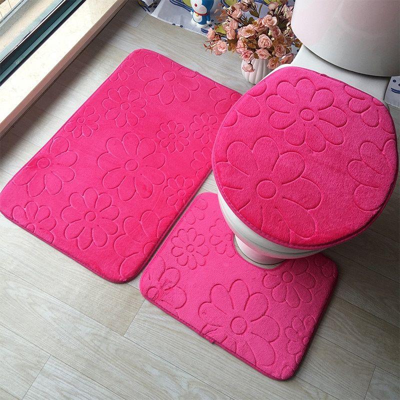 Waterproof Toilet Floor Mats Get Home Goods Bathroom Mat Sets Bathroom Mats Bathroom Floor Mat