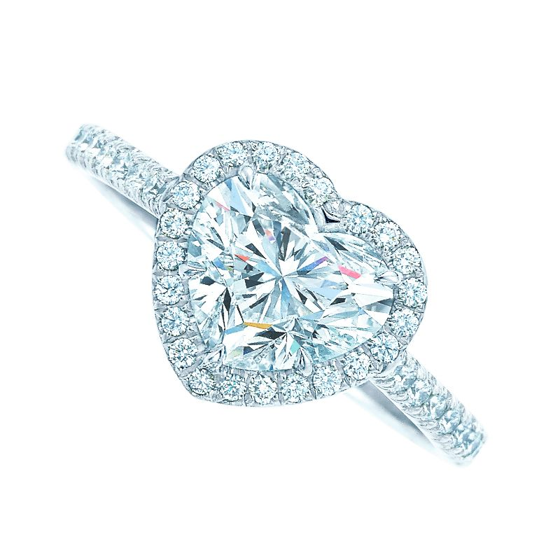 Tiffany Soleste 174 Heart Engagement Ring In Platinum With