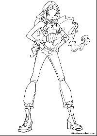 Winx Boyama Resim 13 Lay Pinterest Coloring Pages Cartoon