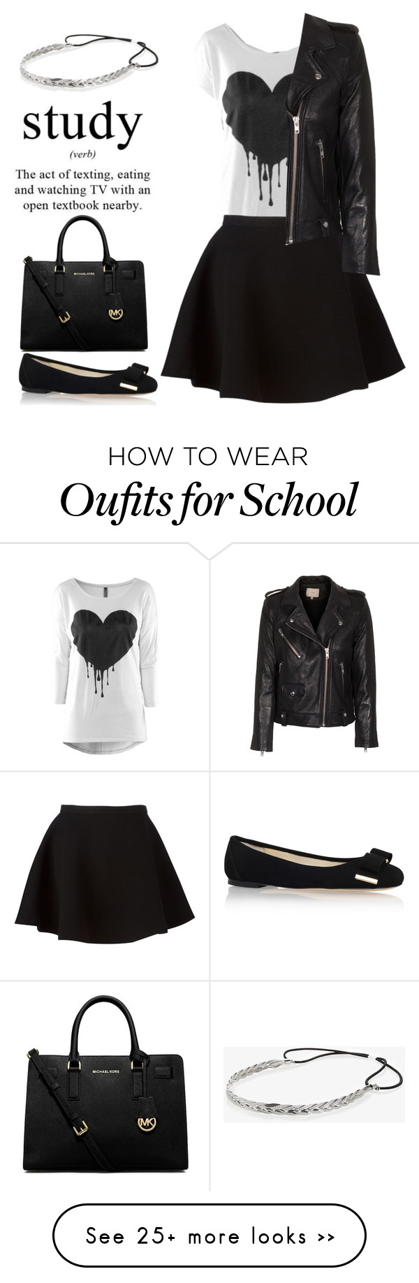 """""""My school style"""" by starspy on Polyvore featuring Neil Barrett, IRO, MICHAEL Michael Kors and Express"""