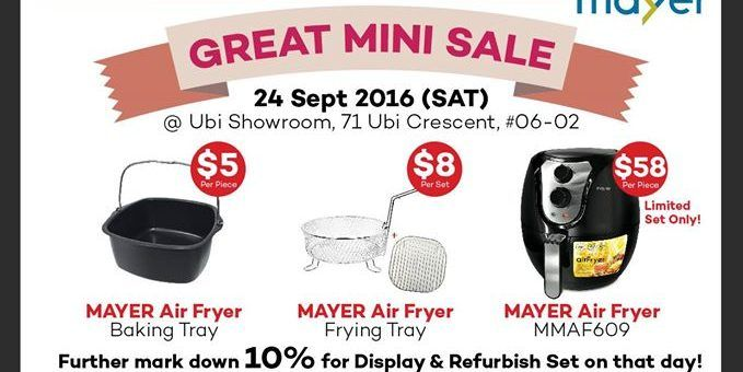 Mayer Singapore Great Mini Sales Promotion only on 24 Sep 2016