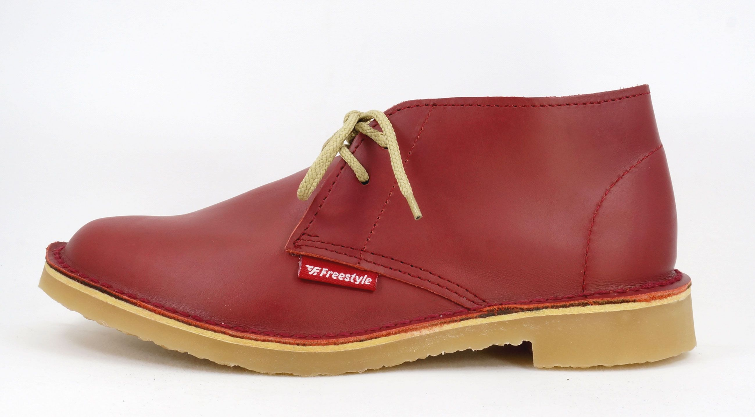 Freestyle Gristle Red Handcrafted Genuine Leather Vellie Hunter Unisex Leather Shoes Woman Leather Genuine Suede