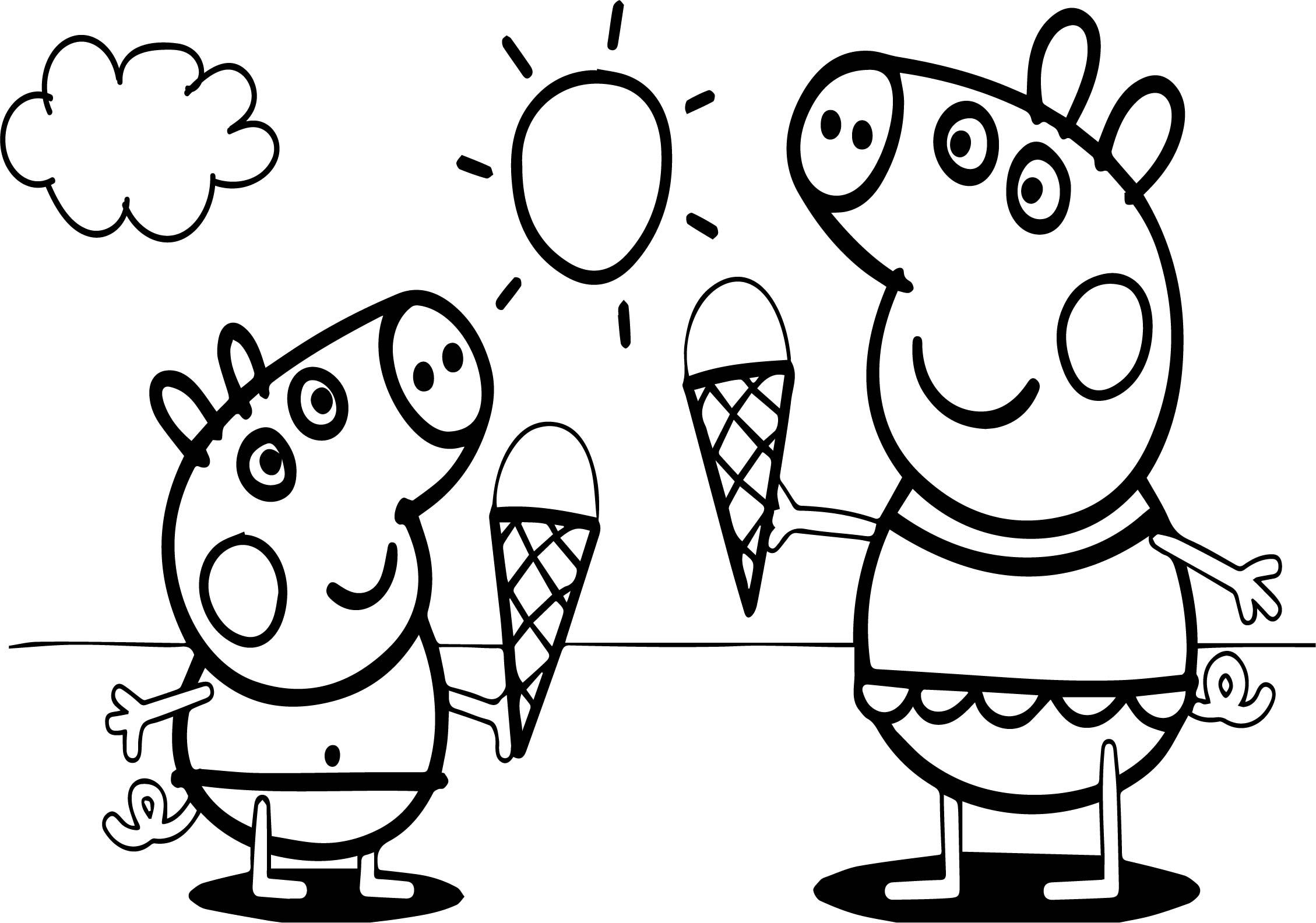 Awesome Peppa Pig Video Free Coloring Page Peppa Pig Coloring Pages Peppa Pig Colouring Fairy Coloring Pages