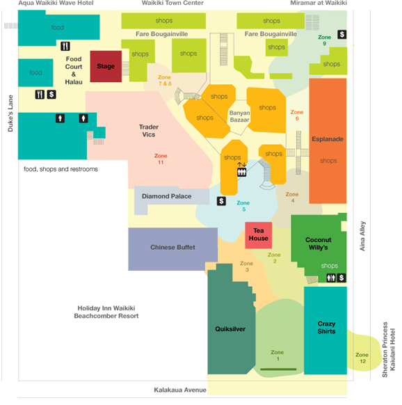 International Market Place Waikiki - Map | Hawaii ...