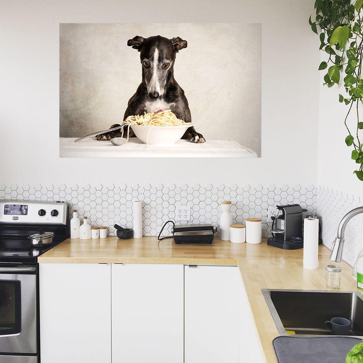 Pasta 1 Van Nuelle Flipse Op Canvas Behang En Meer Keuken Ontwerp Behang Keuken