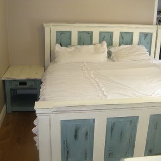 Superbe Custom Rustic Furniture   Custom Built King Bed Including Headboard,  Sideboards, Footboard And Slats. Made From Two Antique 5 Panel Doors, .