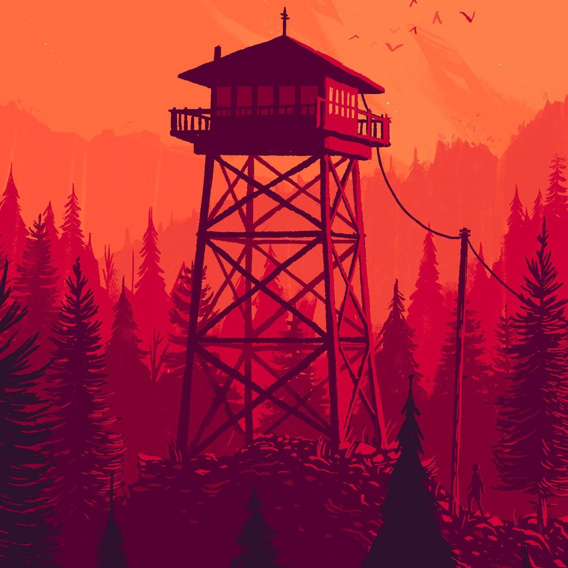 Firewatch A Game By Campo Santo Art By Olly Moss Firewatch Art Campo Santo