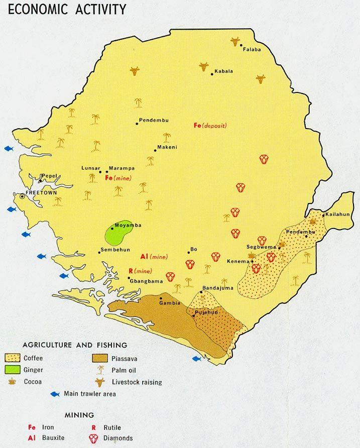cool Sierra Leone Map Travelquaz Pinterest Sierra leone