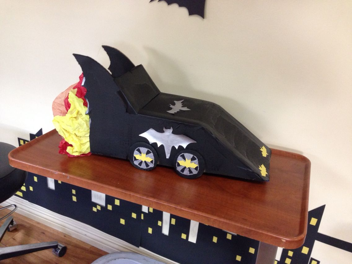 Mini bat mobile gotham/office decor/Halloween Pinterest - halloween decorations for the office