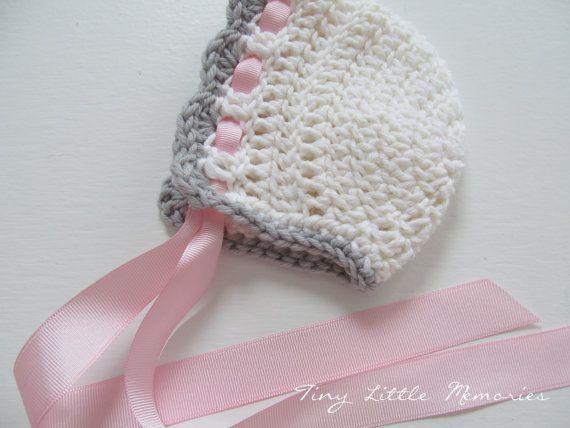 Hand Crochet New Born Baby Bonnets