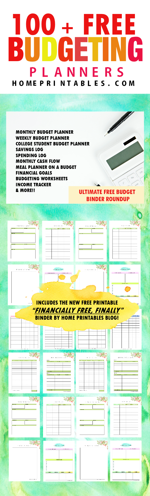 weekly budget planner templates