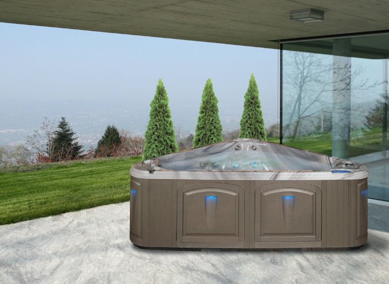 Triangle Shaped 3 Person Hot Tub By Clearwater Spas