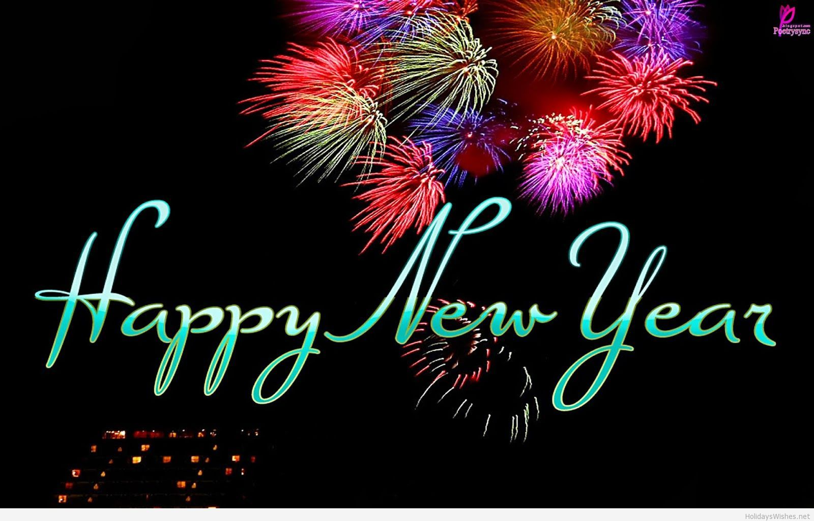 Simple wallpaper happy new year message  happy new year  Happy