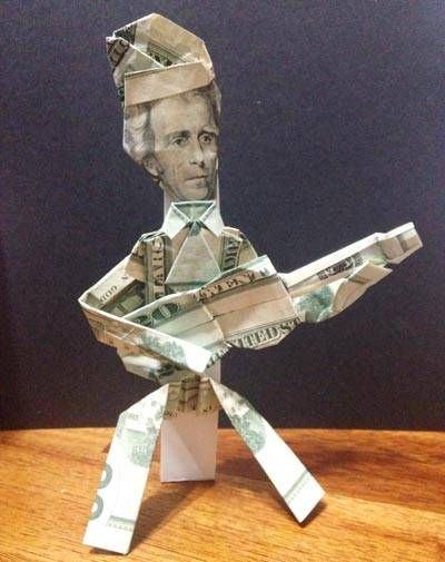 Money Origami Person With Guitar Margie Pinterest Origami