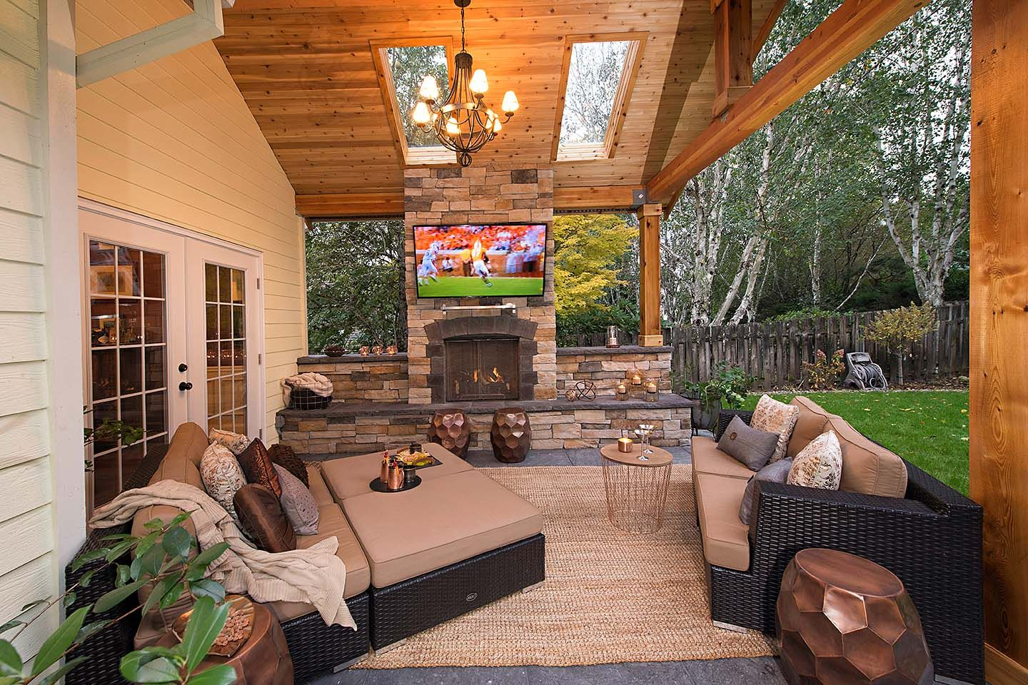 Lean-to Patio Cover - Paradise Restored Landscaping ... on Attached Outdoor Living Spaces id=19667
