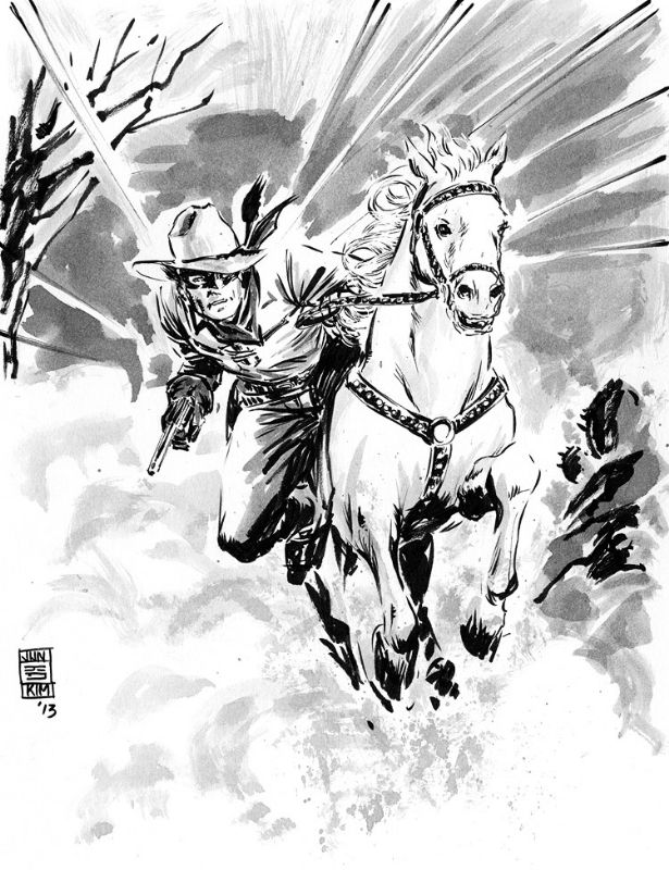 Pulp Sketch - Lone Ranger Comic Art