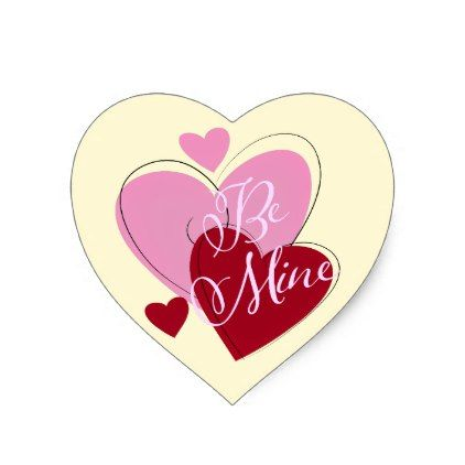 Pink Red Hearts Valentine\'s Day Stickers - valentines day gifts ...