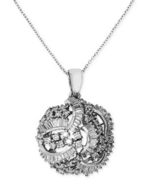 Classique by Effy Diamond Swirl Pendant (1-1/2 ct. t.w.) in 14k White Gold - Gold