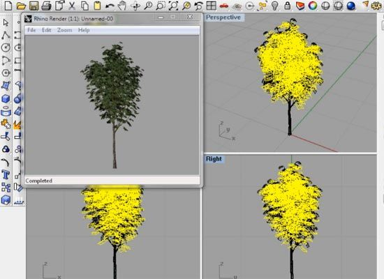 Now you can add Trees, Shrubs, Flowers, Xfrog architectural