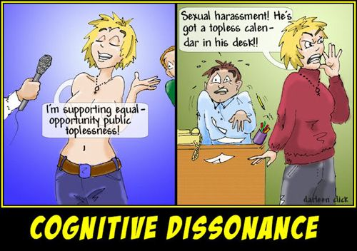 the concept of cognitive dissonance a disharmonious mental state Cognitive dissonance is psychological warfare cognition is the mental action or process of acquiring knowledge and understanding through thought, experience, and the senses resulting in our.