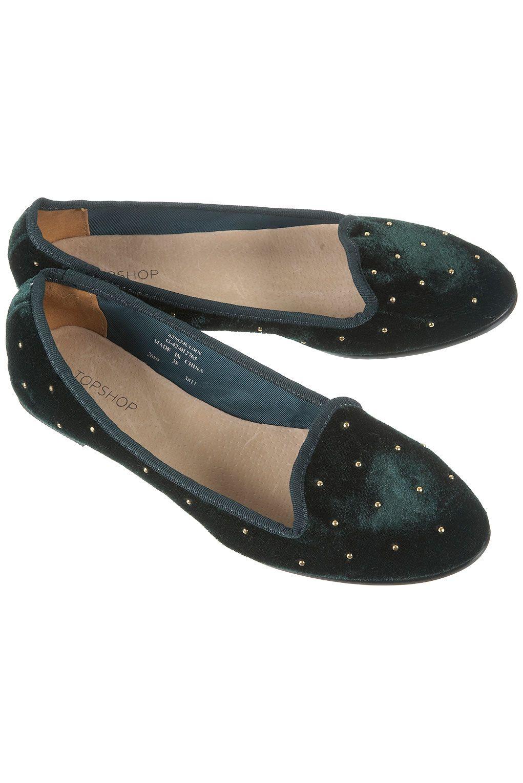 Mini stud slippers via Topshop