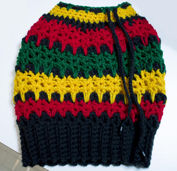 Rasta Dread Tube Hat – Crochet Pattern - Dreadlock Hat - Rasta Tam ...
