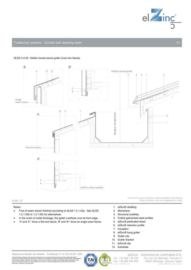 Ventilated Hidden Eaves Box Gutter Detail In Zinc Sig Zinc Copper Box Gutter Gutter Gutters