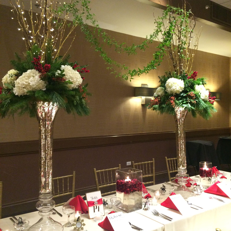 Christmas Wedding Reception By Furst Florist