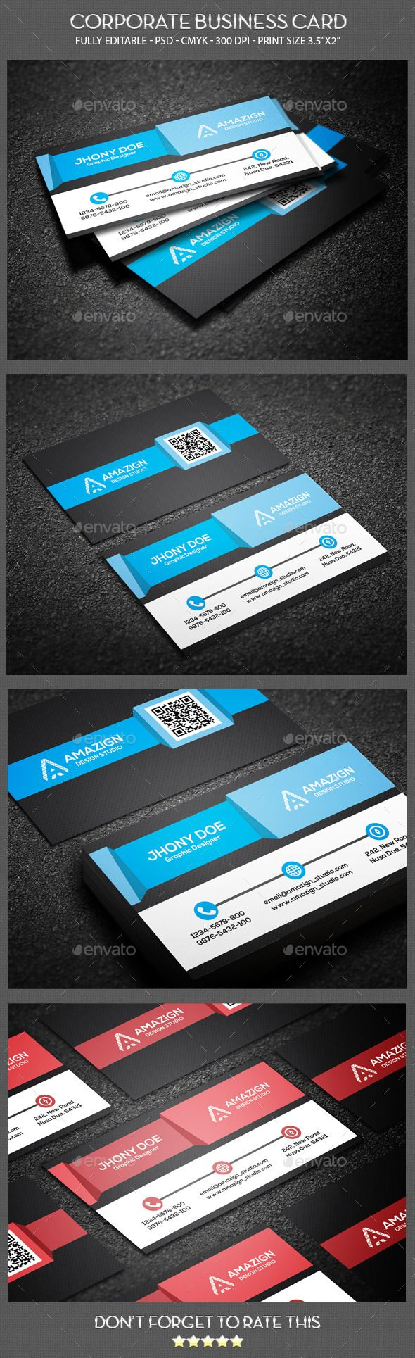 Creative corporate business card cartes de visita visita e carto creative corporate business card reheart Image collections