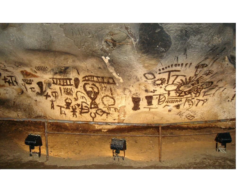 Prehistoric drawings from the Magoura Cave, Bulgaria