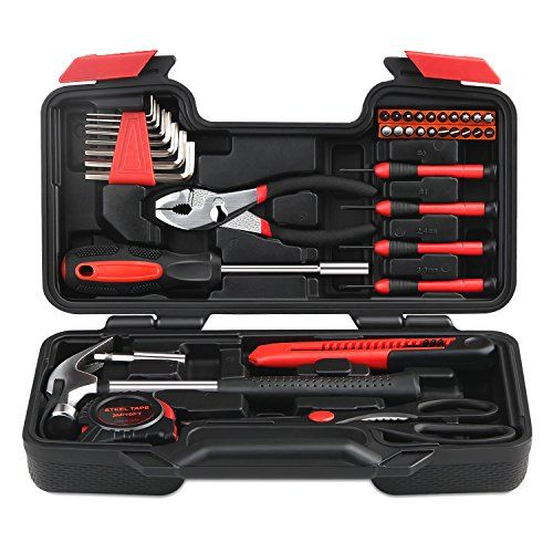 buy now 40 99 39 piece tool kit is the perfect go to set for rh pinterest com Long Tool Storage DIY Wall Tool Storage DIY