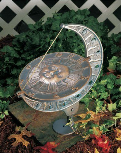 sun and moon sundial finish french bronze by whitehall 100 rust free recycled. Black Bedroom Furniture Sets. Home Design Ideas