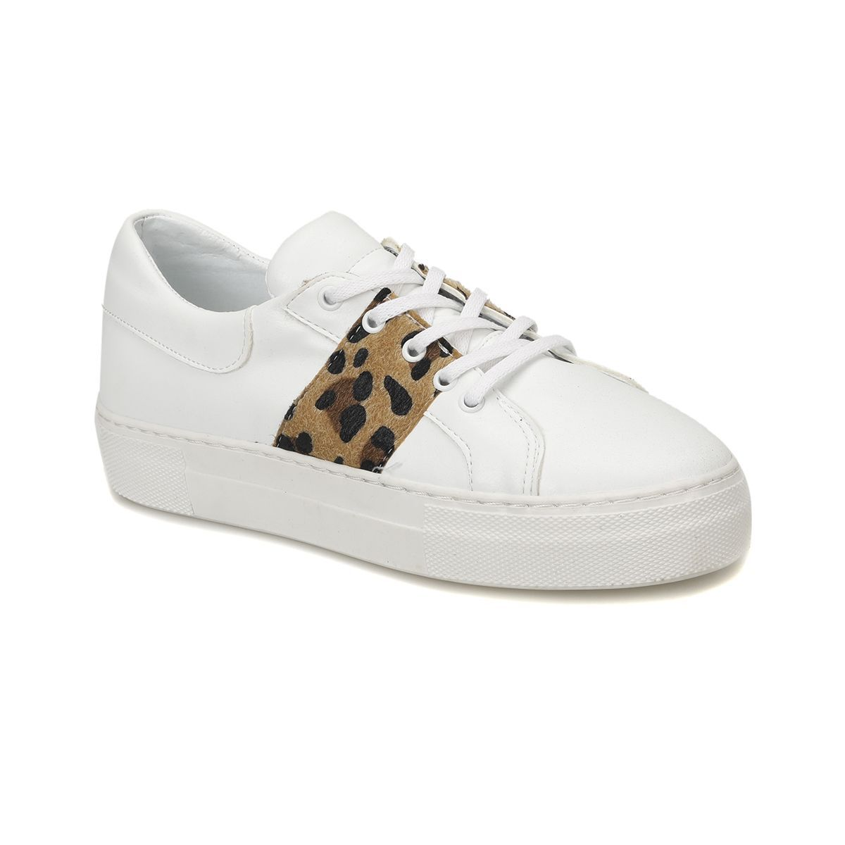 Butigo Butigo Stone01z89z Beyaz Leopar Kadin Sneaker Ayakkabi Flo Ayakkabi Sneaker Ayakkabilar Leopar