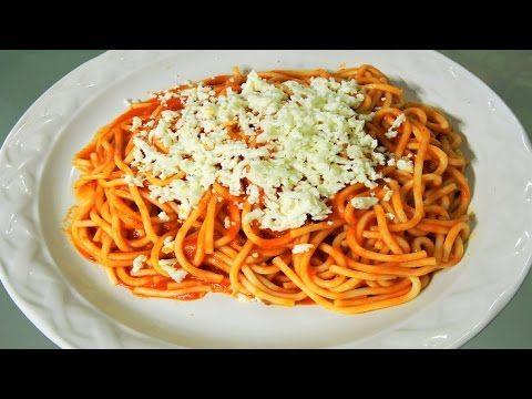 Como hacer espagueti spaguetti rojo receta facil y for Como hacer comida facil