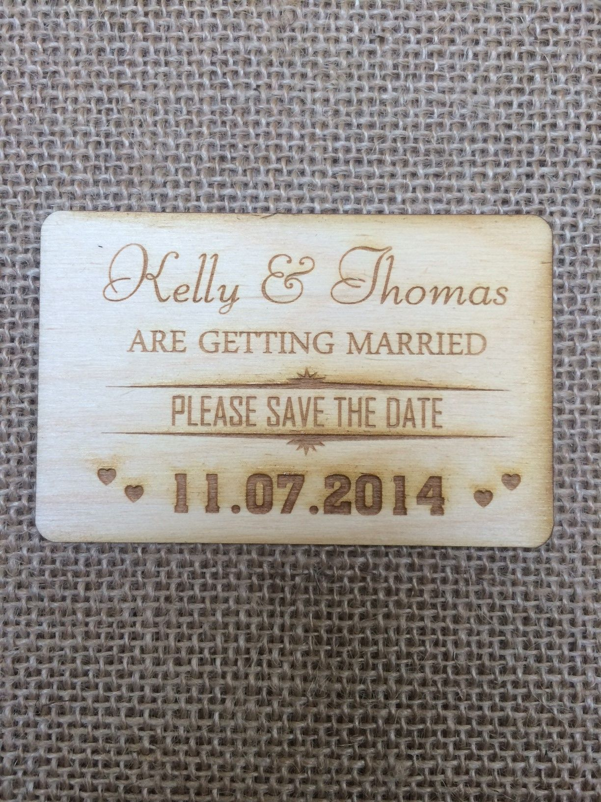 Business card size save the date engraved on to 3mm birch wood business card size save the date engraved on to 3mm birch wood reheart Gallery
