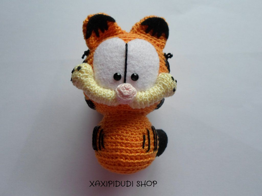 Amigurumi Free Patterns Garfield : Llavero Amigurumi Garfield by Xaxipidudi.deviantart.com on ...