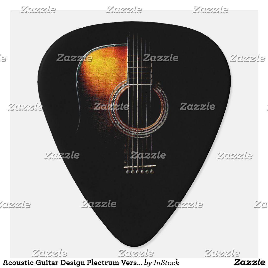Acoustic Guitar Design Plectrum Version 4 Zazzle Com Yamaha Guitar Guitar Design Acoustic Guitar