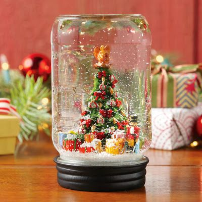 Christmas Snow Globes Diy.How To Recycle Making Recycled Mason Jar Snow Globes