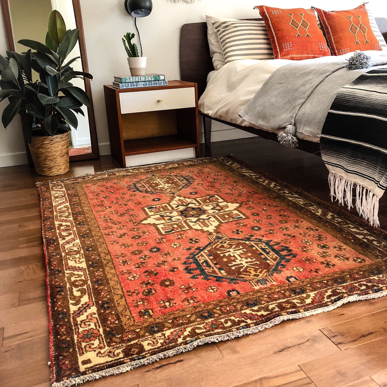 handmade vintage turkish area rug bohemian chic carpet chambre on boho chic kitchen rugs id=46690
