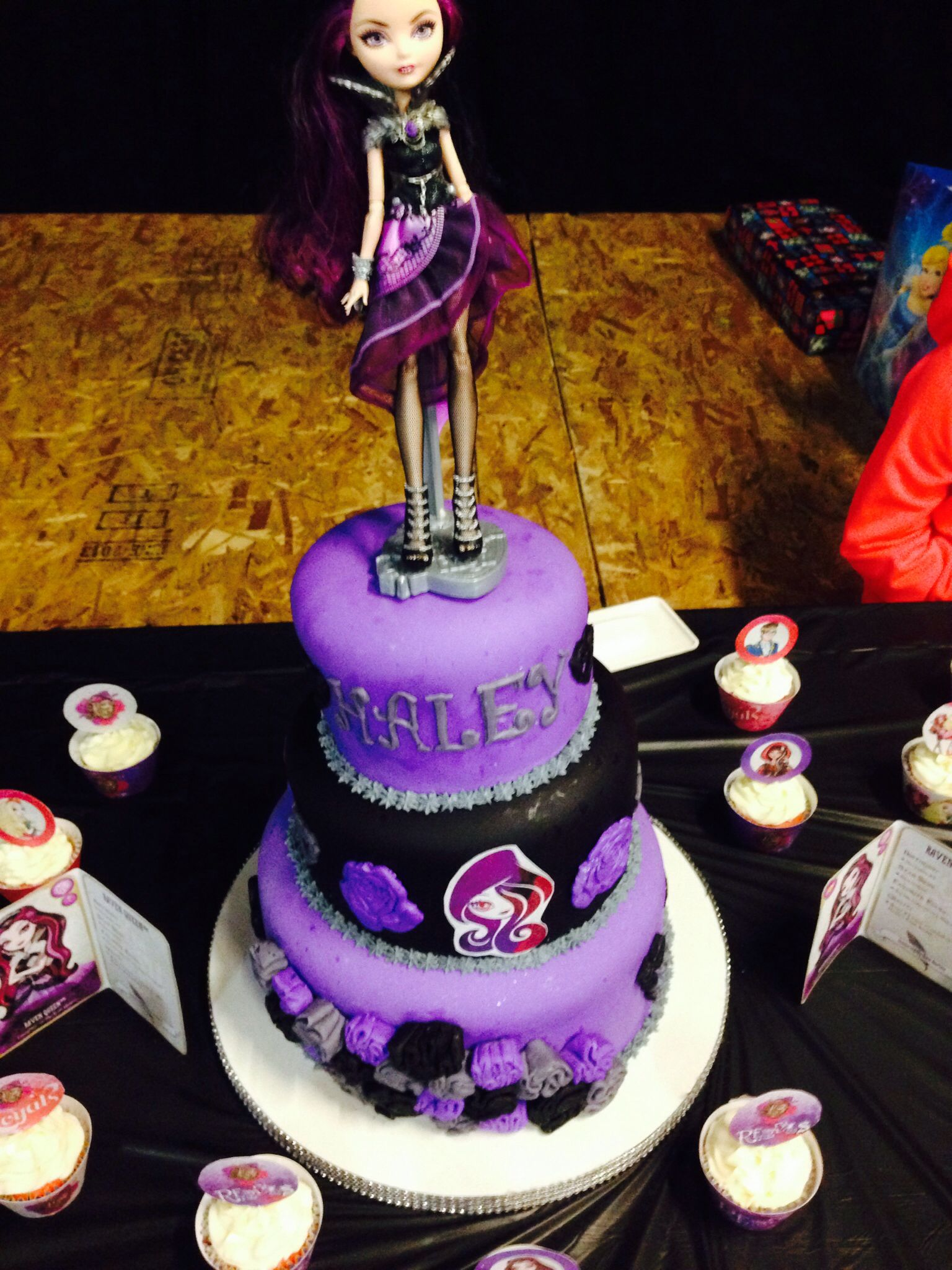 Sensational Ever After High Cake With Images Monster High Birthday Cute Personalised Birthday Cards Veneteletsinfo