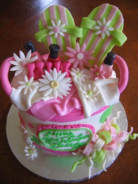 Spa Party Cake Flickr Photo Sharing Cakes And Cookies - Spa birthday party cake