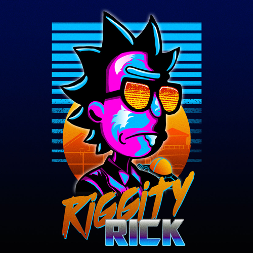 Riggity Rick Officially Licensed Fan Art For Rick And Morty In 2021 Rick And Morty Poster Poster Prints Rick And Morty