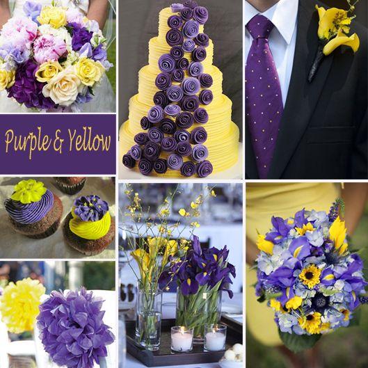 Yellow And Purple Wedding Yellow Wedding Colors Wedding Themes