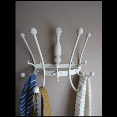 cream wall hanging coat hooks hallway storage large shabby chic