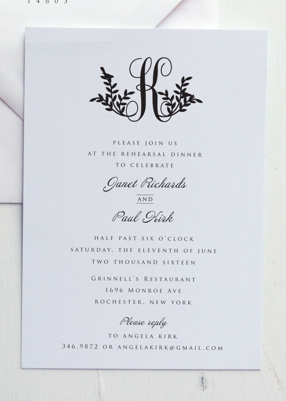 Rehearsal Dinner Invitation By Jpress Designs By Jpressdes Rehearsal Dinner Invitations Wording Wedding Rehearsal Dinner Invitations Dinner Invitation Wording