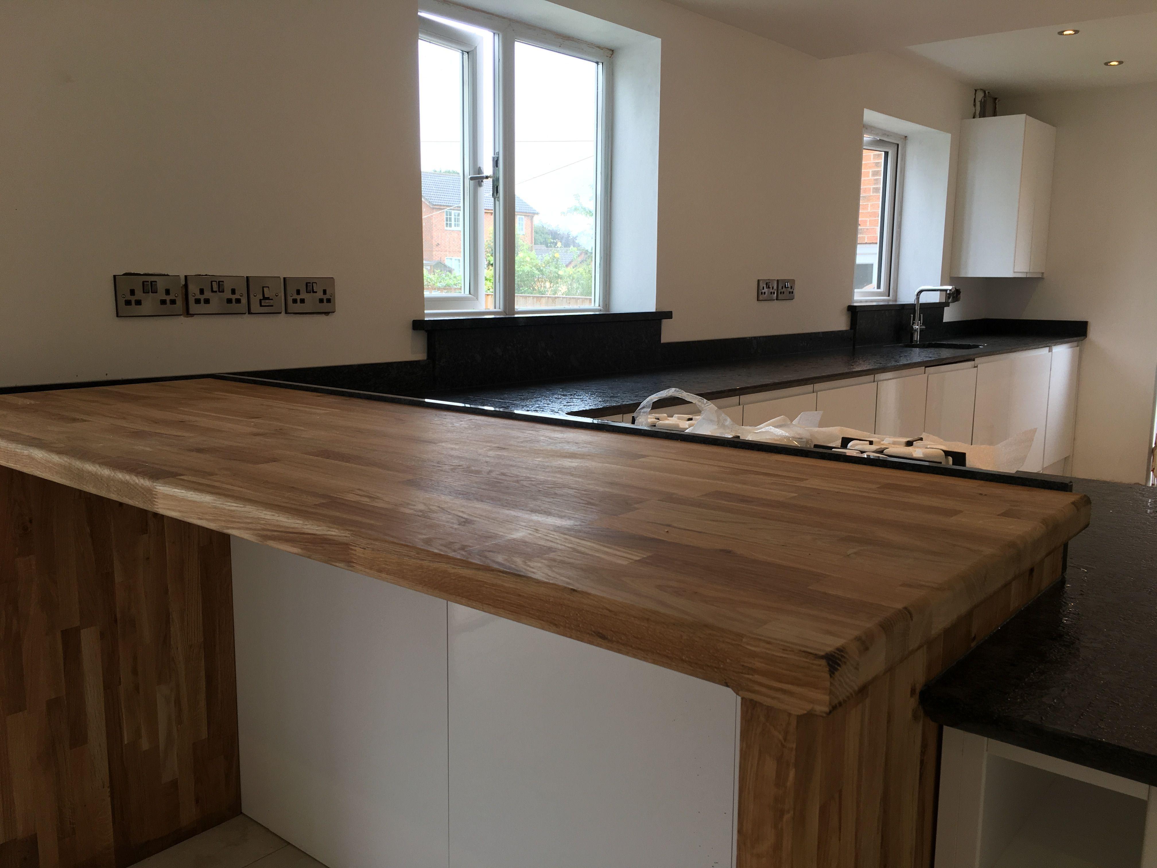 Steel Grey Lepatura Finish Granite Kitchen Worktops Breakfast
