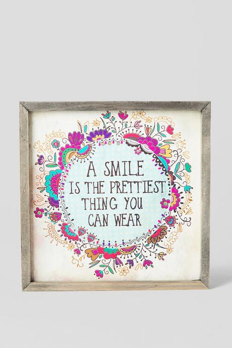 a smile is the prettiest thing you can wear this beautiful canvas rh pinterest com