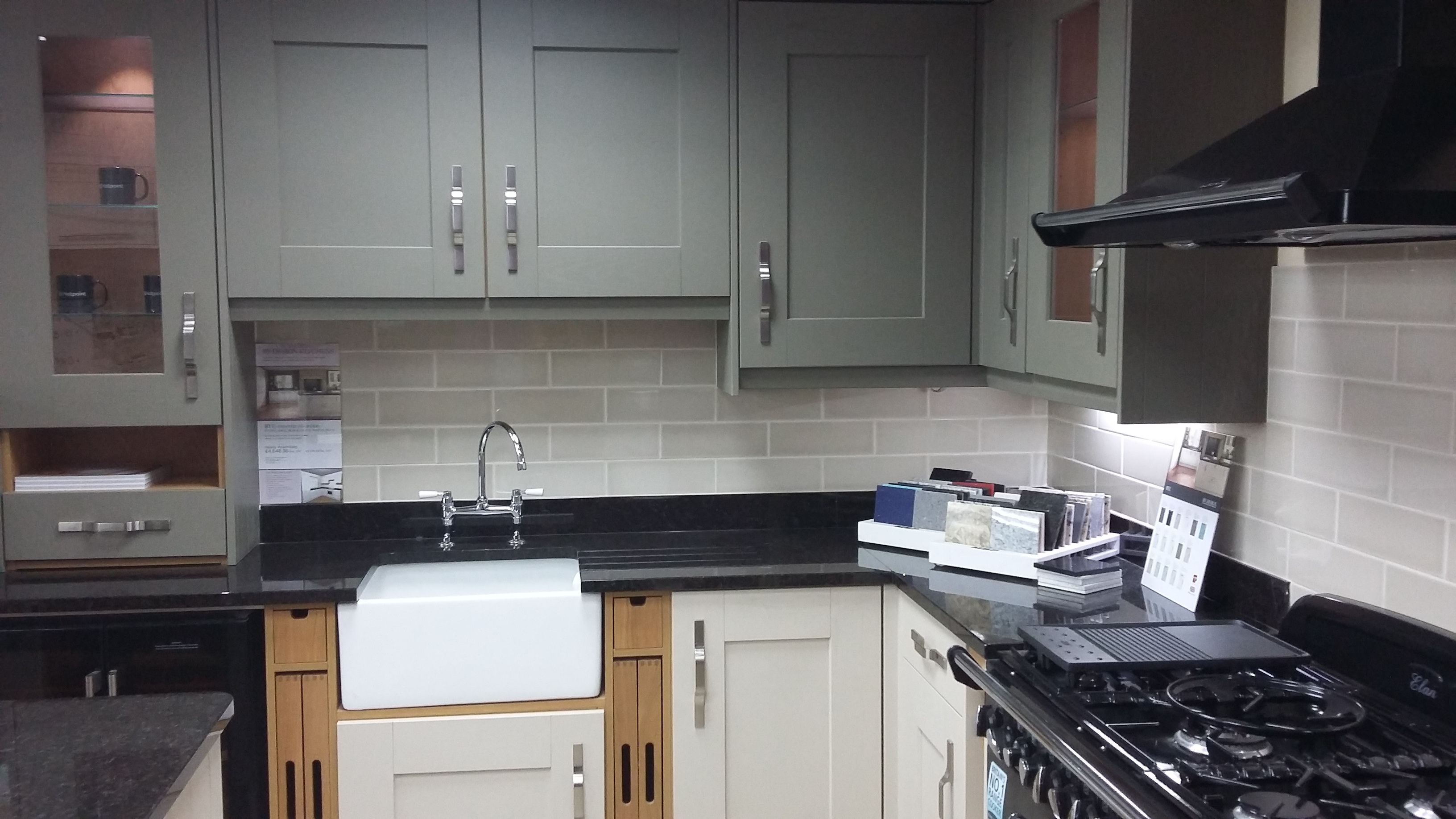 BY DESIGN Rye Painted Timber Kitchen with Belfast Sink ...