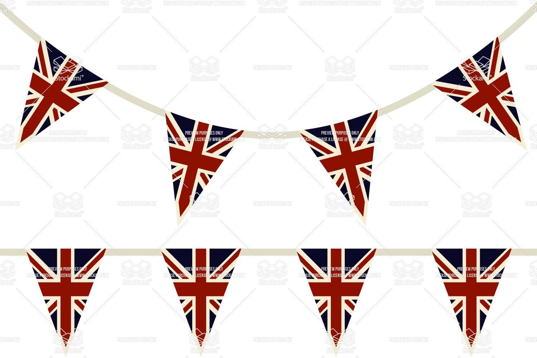 Union Jack flag bunting - Vector Illustration #77458 | bunting ideas ...